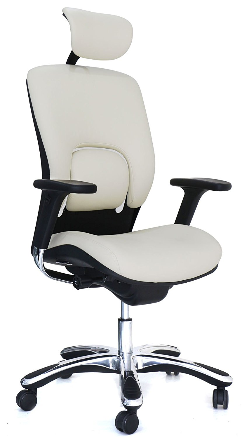 GM Seating Ergolux Genuine Leather Executive Hi-Swivel Chair