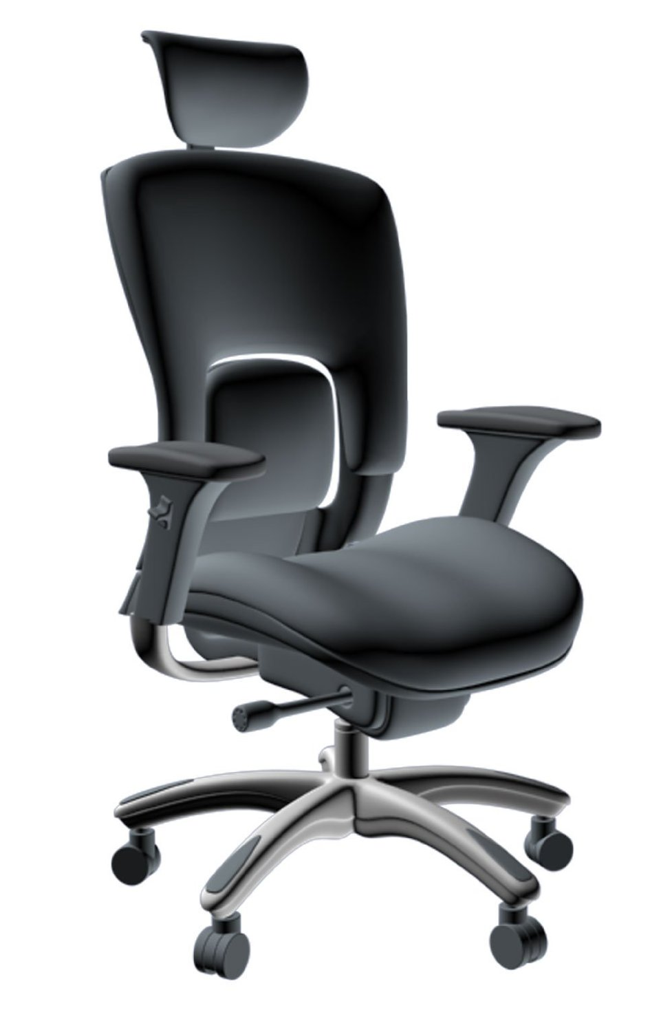GM Seating Ergolux Genuine Leather Executive Chair